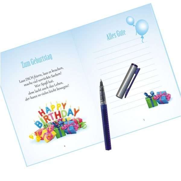 10510-10545 Geldgeschenk zum Geburtstag mit Umschlag für Geldscheine, Gutscheine als Geburtstagsgeschenk Einschreibseite
