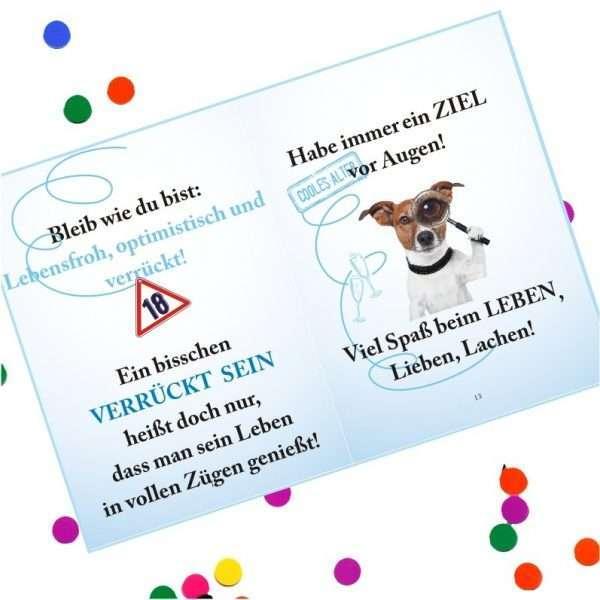 10510 Geldgeschenk zum 18. Geburtstag mit Umschlag für Geldscheine, Gutscheine als Geburtstagsgeschenk Musterseite