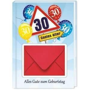 10528 Geldgeschenk zum 30. Geburtstag mit Umschlag für Geldscheine, Gutscheine als Geburtstagsgeschenk Cover