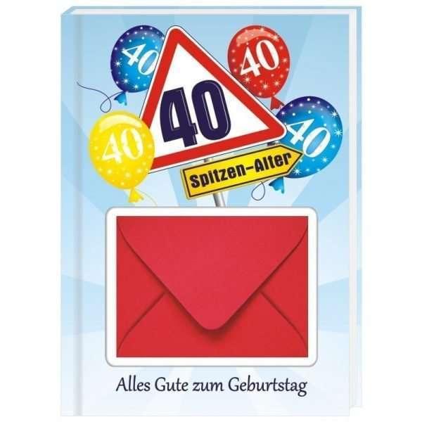 10529 Geldgeschenk zum 40. Geburtstag mit Umschlag für Geldscheine, Gutscheine als Geburtstagsgeschenk Cover