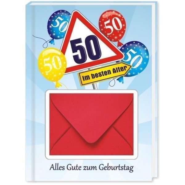 10542 Geldgeschenk zum 50. Geburtstag mit Umschlag für Geldscheine, Gutscheine als Geburtstagsgeschenk Cover