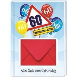 10543 Geldgeschenk zum 60. Geburtstag mit Umschlag für Geldscheine, Gutscheine als Geburtstagsgeschenk Cover