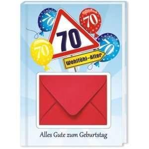10544 Geldgeschenk zum 70. Geburtstag mit Umschlag für Geldscheine, Gutscheine als Geburtstagsgeschenk Cover