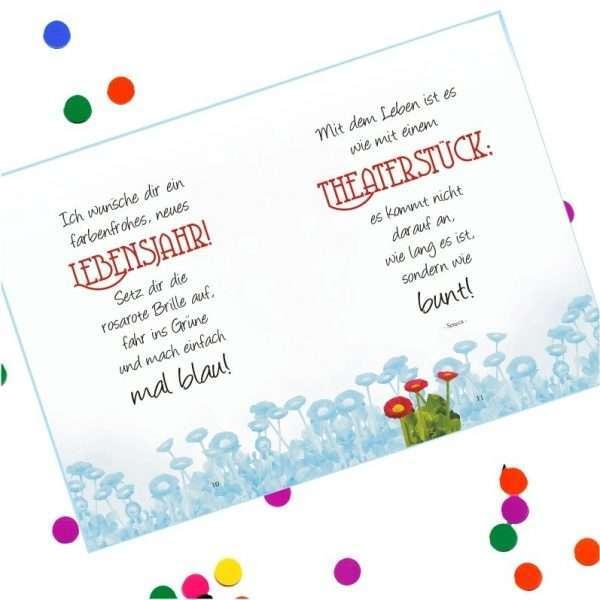 10545 Geldgeschenk zum Geburtstag mit Umschlag für Geldscheine, Gutscheine als Geburtstagsgeschenk Musterseite