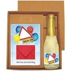 20132 Geldgeschenk zum Geburtstag Geschenkset mit Piccolo Beerenperlwein und Geldgeschenkbuch mit Umschlag für Geldscheine, Gutscheine als Geburtstagsgeschenk