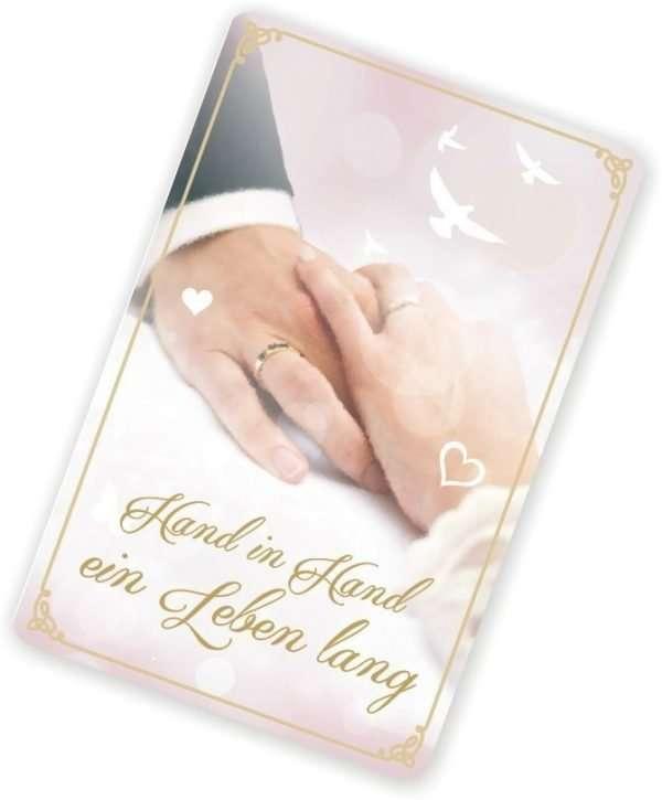 Glückwunschkarte mit Magnet und Umschlag zur Hochzeit