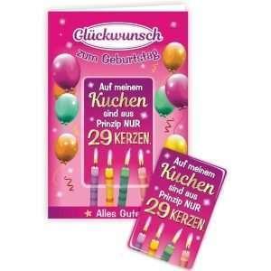 24008 Geburtstagskarte für Frauen Glückwunschkarte Grußkarte mit Magnet und Umschlag AV Andrea Verlag andrea-geschenke.de!