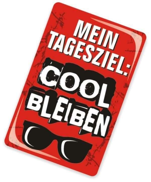 Glückwunschkarte mit Magnet und Umschlag Cool bleiben für starke Nerven
