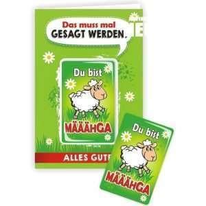 24039 Geburtstagskarte Mit Schaf Du bist Määgha Glückwunschkarte Grußkarte mit Magnet und Umschlag AV Andrea Verlag andrea-geschenke.de!