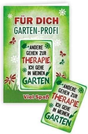Die Glückwunschkarte zum Geburtstag mit Magnet und Umschlag Für Dich Gartenprofi