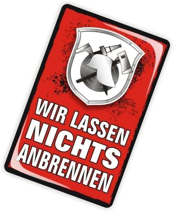 Die Glückwunschkarte zum Geburtstag mit Magnet und Umschlag Für Dich Feuerwehrmann