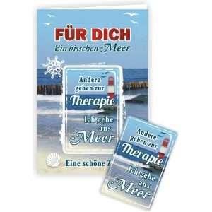 24048 Geburtstagskarte Ein bisschen Meer Andere gehen zur Therapie, ich gehe ans Meer Glückwunschkarte Grußkarte mit Magnet und Umschlag AV Andrea Verlag andrea-geschenke.de!