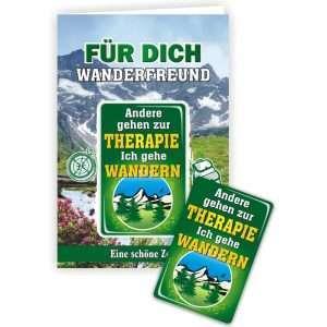 24049 Geburtstagskarte Wanderfreund Andere gehen zur Therapie, ich gehe wandern Glückwunschkarte Grußkarte mit Magnet und Umschlag AV Andrea Verlag andrea-geschenke.de!