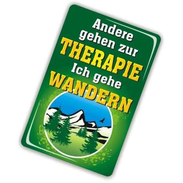 24049 Geburtstagskarte Wanderfreund Andere gehen zur Therapie, ich gehe wandern Glückwunschkarte Grußkarte mit Magnet und Umschlag, Magnet AV Andrea Verlag andrea-geschenke.de!