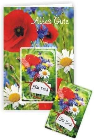Die Glückwunschkarte zum Geburtstag mit Magnet und Umschlag zum Geburtstag Alles Gute