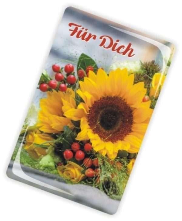 Die Glückwunschkarte zum Geburtstag mit Magnet und Umschlag zum Geburtstag sonnige Grüße
