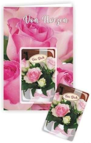 Die Glückwunschkarte zum Geburtstag mit Magnet und Umschlag zum Geburtstag Von Herzen
