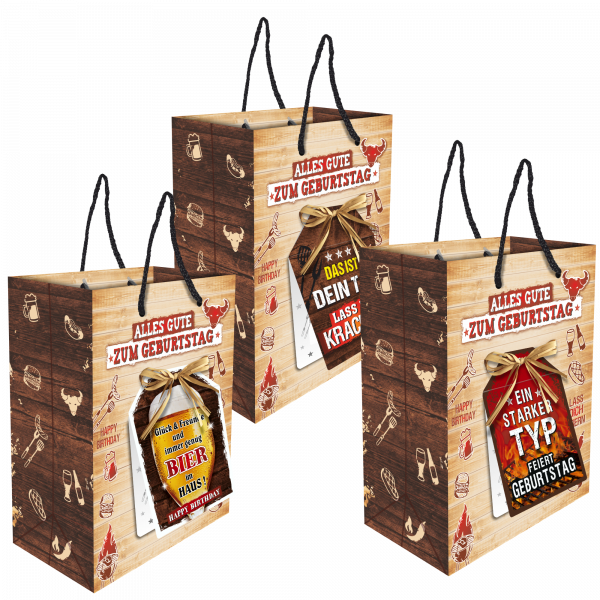 3-stk.-edle-Geschenktueten-Serie-Grillen-Alles-Gute-hochwertige-Geschenktaschen-mit-Glueckwunschkarte-und-Bast-Schleife-Geschenk-fuer-Maenner-AV-Andrea-Verlag-andrea-verlag.de-2