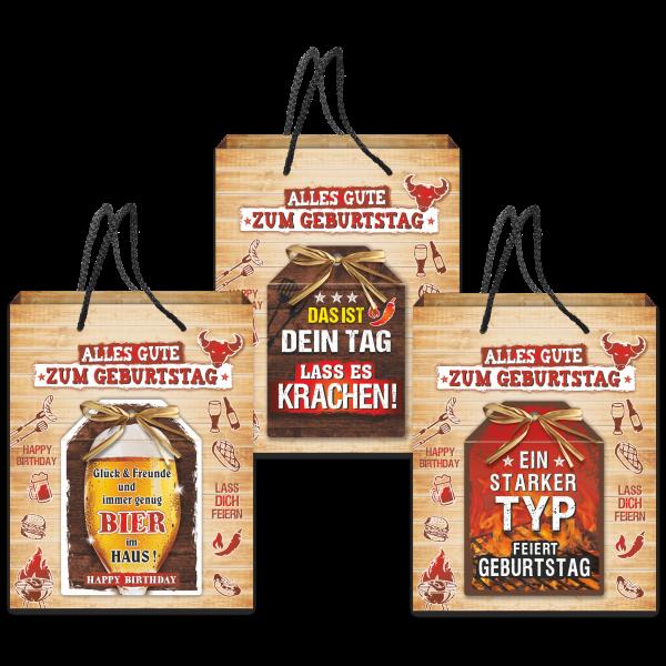 3-stk.-edle-Geschenktueten-Serie-Grillen-Alles-Gute-hochwertige-Geschenktaschen-mit-Glueckwunschkarte-und-Bast-Schleife-Geschenk-fuer-Maenner-AV-Andrea-Verlag-andrea-verlag.de