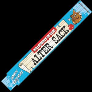30004 Zollstock Happy Birthday Alter Sack AV Andrea Verlag andrea-geschenke.de!