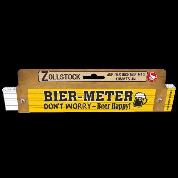 30023 Bier-Meter - Don't worry-Beer happy! Pappe AV Andrea Verlag andrea-geschenke.de!