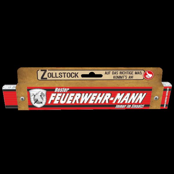 30033 Zollstock zum Bester Feuerwehr-Mann Immer im Einsatz! Pappe AV Andrea Verlag andrea-geschenke.de!