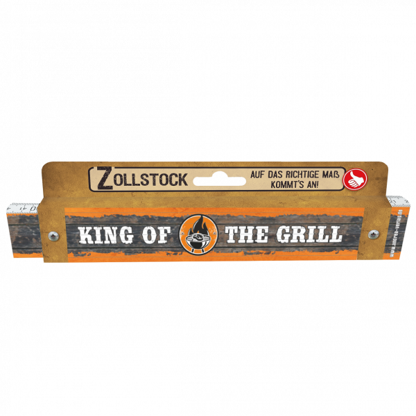 30035 Zollstock King of the Grill Pappe AV Andrea Verlag andrea-geschenke.de!