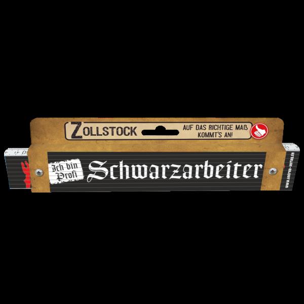 30202 Zollstock Schwarzarbeiter Pappe AV Andrea Verlag andrea-geschenke.de!
