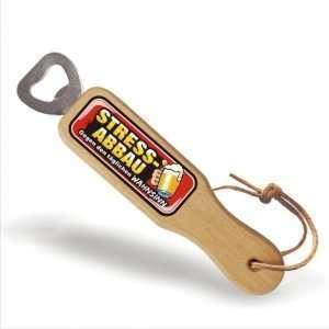 31839 Holz Flaschenöffner Stressabbau gegen den täglichen Wahnsinn mit Lederband Lederriemen