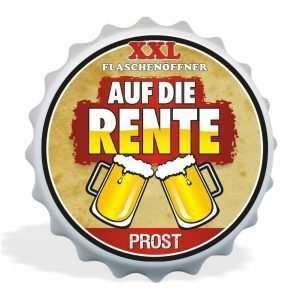 32012 XXL Flaschenöffner Auf die Rente, Kapselöffner AV Andrea Verlag, andrea-geschenke.de