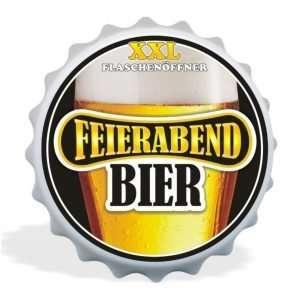 32024 XXL Flaschenöffner Feierabend Bier, Kapselöffner AV Andrea Verlag, andrea-geschenke.de