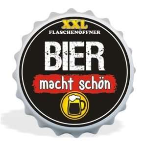32031 XXL Flaschenöffner Bier macht schön, Kapselöffner AV Andrea Verlag, andrea-geschenke.de