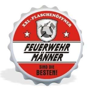 32039 XXL Flaschenöffner Feuerwehrmänner sind die Besten Männer, Kapselöffner AV Andrea Verlag, andrea-geschenke.de