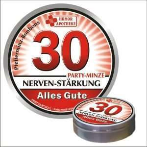32491 Pfefferminzbonbons zum Geburtstag 30 AV Andrea Verlag andrea-geschenke.de!