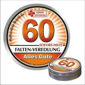 32494 Pfefferminzbonbons zum Geburtstag 60 AV Andrea Verlag andrea-geschenke.de!