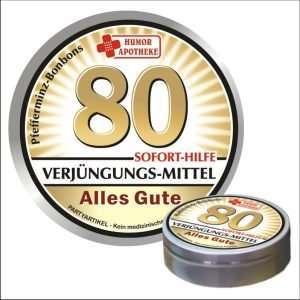 32496 Pfefferminzbonbons zum Geburtstag 80 AV Andrea Verlag andrea-geschenke.de!