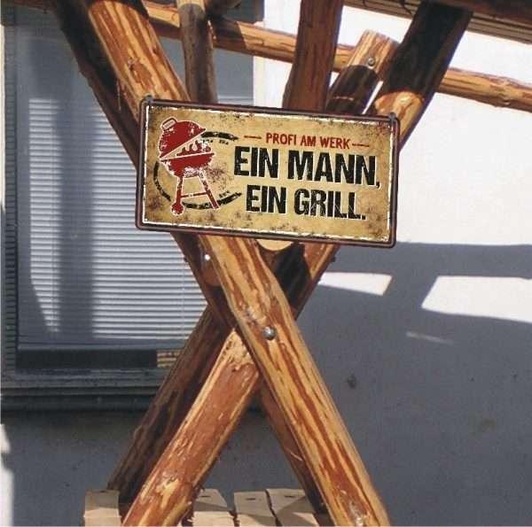 Metallschild-Blechschild-Grillschild-Maennerschild-Grillen-BBQschild-Hinweisschild-AV-Andrea-Verlag-andrea-geschenke.de