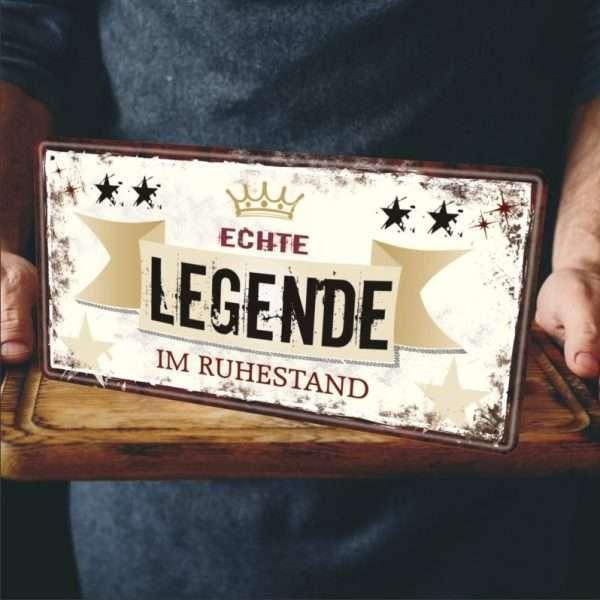 Echte Legende Rentner Metallschild 33542 Bild AV Andrea Verlag andrea-geschenke.de!