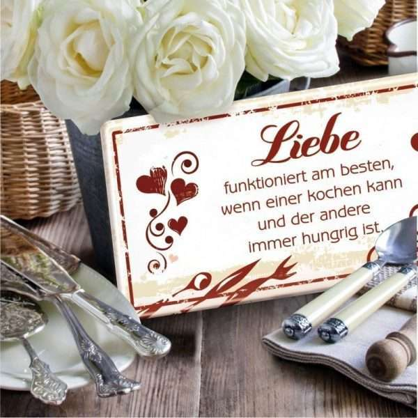 Liebe funktioniert am besten Metallschild 33550 Bild AV Andrea Verlag andrea-geschenke.de!