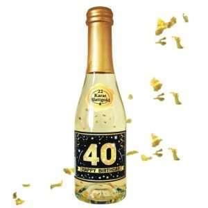56013 Piccolo mit Blattgold Happy Birthday 40 AV Andrea Verlag andrea-geschenke.de!