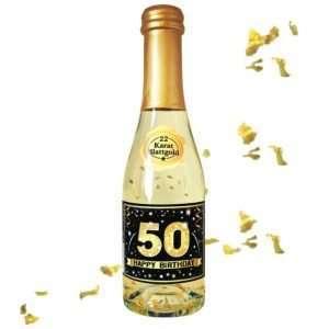 56014 Piccolo mit Blattgold Happy Birthday 50 AV Andrea Verlag andrea-geschenke.de!