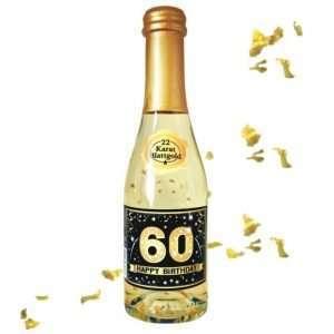 56015 Piccolo mit Blattgold Happy Birthday 60 AV Andrea Verlag andrea-geschenke.de!