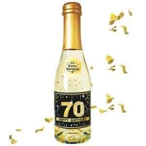 56040 Piccolo mit Blattgold Happy Birthday 70 AV Andrea Verlag andrea-geschenke.de!