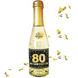 56041 Piccolo mit Blattgold Happy Birthday 80 AV Andrea Verlag andrea-geschenke.de!