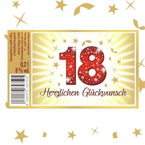 57022 Piccolo Herzlichen Glückwunsch 18 Etikett AV Andrea Verlag andrea-geschenke.de!