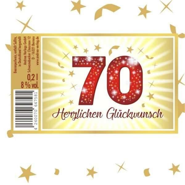 57027 Piccolo Herzlichen Glückwunsch 70 Etikett AV Andrea Verlag andrea-geschenke.de!