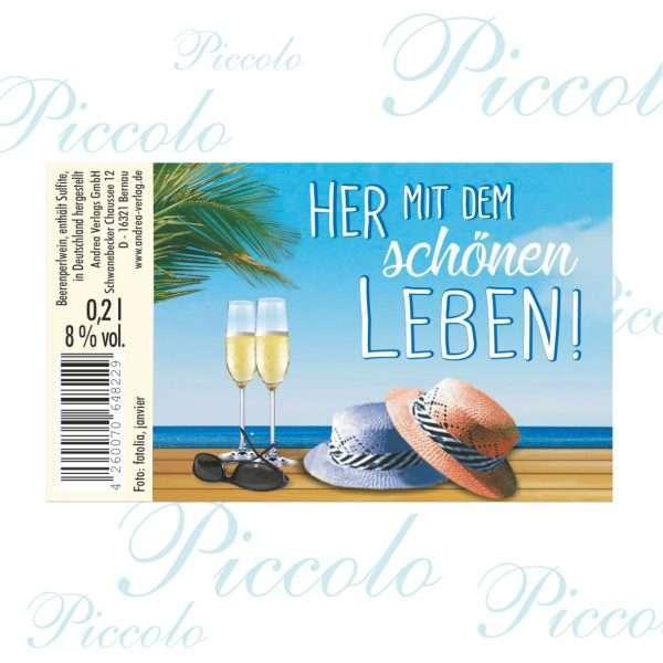57060 Piccolo Her mit dem schönen Leben Etikett AV Andrea Verlag andrea-geschenke.de!