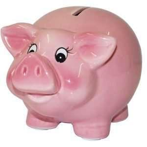 60121 Sparschwein 11cm groß und rosa zum Geburtstag oder zur Hochzeit, aus Keramik Hochglanz Optik Sparbüchse Geldgeschenk Hochzeitsgeschenk Geburtstagsgeschenk
