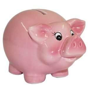 60122 Sparschwein 9cm groß und rosa zum Geburtstag oder zur Hochzeit, aus Keramik Hochglanz Optik Sparbüchse Geldgeschenk Hochzeitsgeschenk Geburtstagsgeschenk