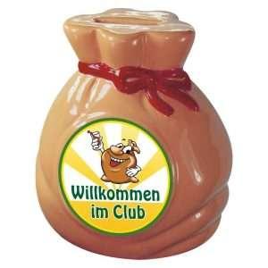 60163 Sack Club Spardose Sparbüchse Sparschwein Geldsack Willkommen im Club